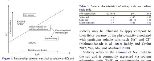 La salinidad de un compost no es equivalente a la de un suelo