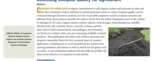 El índice Ag o cómo saber si un compost tiene demasiadas sales