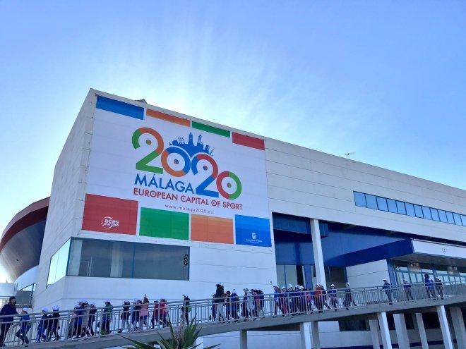 bandera Málaga capital europea del deporte