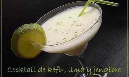 Cocktail de Kéfir a la lima y jengibre