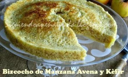 Bizcocho de Manzana , Avena y Kéfir en Microondas
