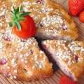 Bizcocho de Fresas con Kefir y Flocos de Avena