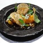 Calabaza con queso azul y Té de Kombucha