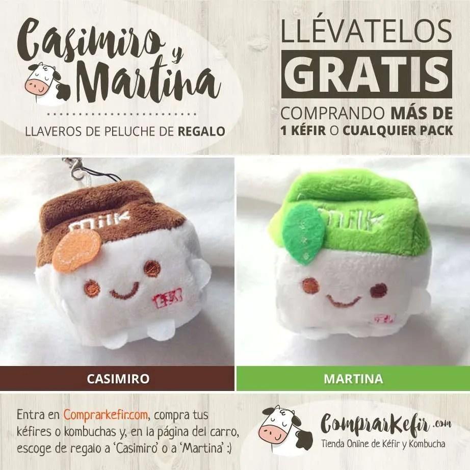 Casimiro y Martina - Llaveros gratis de peluche