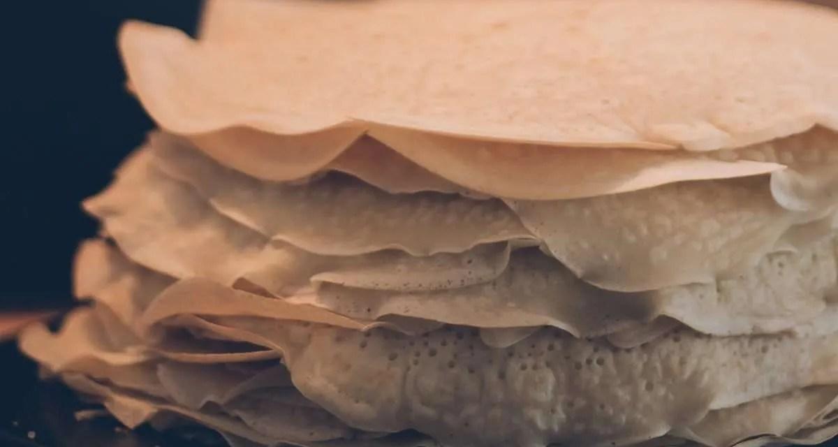 Crepes tiernos a base de Kéfir de leche