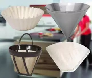 Types of drip coffee filters