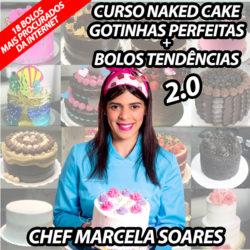 Curso Naked Cake Gotinhas Perfeitas + Bolos Tendências