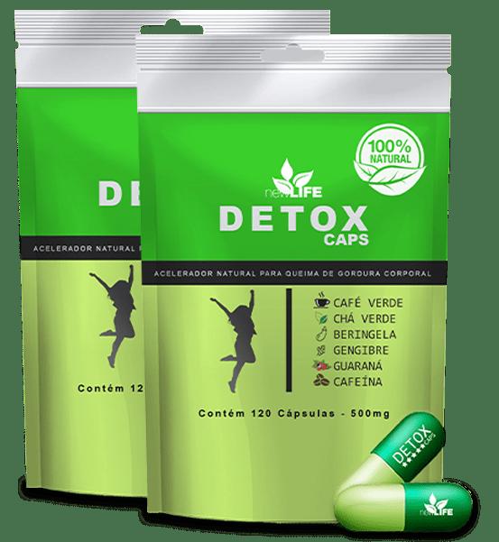 detox caps emagrecedor natural capsulas