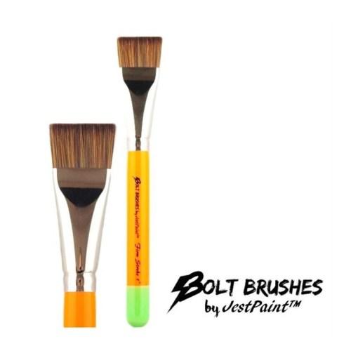 """¡El pincel de 1 """"de Bolt es perfecto para todos tus movimientos de 1 golpe!  <strong>El pincel que se muestra es una imagen completa y un plano cercano. El precio indicado es para un pincel.</strong> PINCELES PARA PINTAR CARAS DE JEST PAINT - FIRM 1 """"STROKE"""