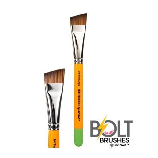 """El pincel de ángulo firme de 3/4 """"de Bolt es perfecto para crear creaciones de un trazo, ¡especialmente las rosas!  El pincel que se muestra es una imagen completa y un plano cercano.<strong>El precio indicado es para un pincel.</strong>"""