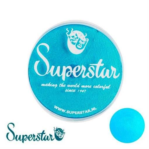 Superstar es una pintura de cara suave y cremosa altamente pigmentada. Se mezclan fácilmente, se secan en 30 segundos sobre la piel y se secan hasta obtener una cobertura sin manchas.  Si quieres convertirte en un profesional, puedes obtener Superstar Ziva (Blue) Shimmer en el contenedor de 45 gramos. Pintura facepaint | Ziva (Blue) Shimmer 45 gr
