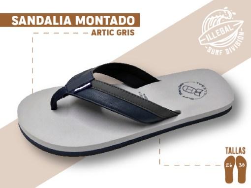<b>SANDALIA MARCA ILEGAL</b>  <b>PARA CABALLERO</b>  <strong>Color gris con Tela</strong>  <b>TALLAS DEL 26 A 30 CM</b>  <b>PRECIO ESPECIAL A MAYORISTAS</b>  <b>mayoreo@comprastodo.com</b>  <b>SOMOS FABRICANTES</b> Sandalia Artic Gris