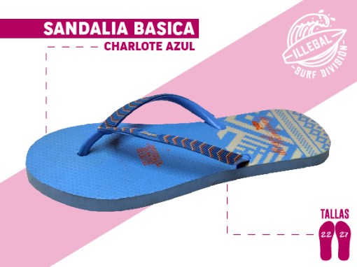 <b>SANDALIA MARCA ILEGAL</b>  <b>PARA MUJER</b>  <b>TALLAS DEL 22 al 27 CM</b>  <b>PRECIO ESPECIAL A MAYORISTAS</b>  <b>mayoreo@comprastodo.com</b>  <b>SOMOS FABRICANTES</b> Sandalia Charlote Azul