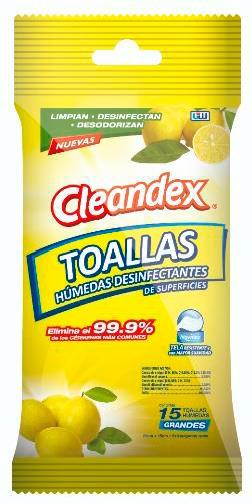 """cleandex <h1 class=""""item-title__primary """">Bolsa Cleandex Limón Antibacterial, 1 caja con 42 bolsas</h1> ATRIBUTOS Toallas Húmedas Cleandex Limón para superficies  + Elimina el 99.9% de los gérmenes más comunes. + Limpian, desinfectan, desodorizan. + Extra Grandes. + Tela resistente y suave. _____________________________________  Consume lo hecho en México.  <strong>PRECIO ESPECIAL A MAYORISTAS</strong> <a href=""""mailto:mayoreo@comprastodo.com""""><strong>mayoreo@comprastodo.com</strong></a> <strong>SOMOS FABRICANTES</strong> Caja con 42 Bolsas Cleandex Limón 15 Toallas Antibacterial"""