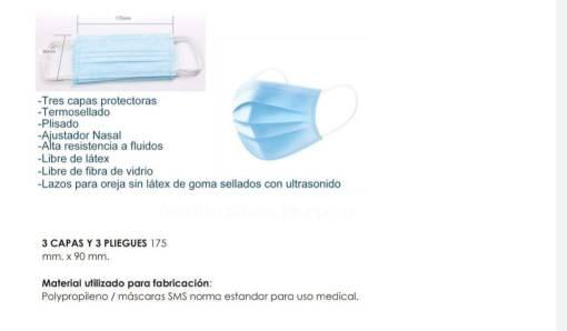 cubrebocas <h1>Cubrebocas desechable de 3 capas con ajuste nasal con filtro antibacterial</h1> <div></div> <div></div> <div>CARACTERISTICAS</div> <div>* Cubre bocas hipoalergénico</div> <div>* Resistente al agua</div> <div>* Alta eficiencia de filtración para virus y bacterias</div> <div>* Exelente ventilación y muy cómodos</div> <div>* Libres de fibra de vidrio</div> <div>* No tejido</div> <div>* Incluye ajuste nasal</div> <div>* Filtro antibacterial</div> <div>* Certificado FDA</div> <div></div> <div></div> Cubrebocas Tricapa 20 piezas Esterilizadas