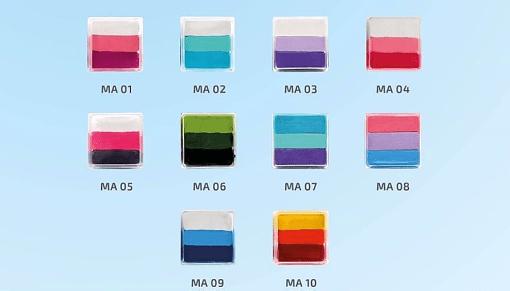colibrix MINI ARCOIRIS MATE Colibrix <ul>  <li>Blanco</li>  <li>Rosa Pastel</li>  <li>Fiucsa Oscuro</li> </ul> Mini Arcoiris Mate Colibrix 25g