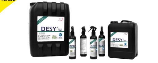 Desy®-BM es una solución desinfectante y esterilizante , no toxica <ul>  <li>Desinfectante para manos.</li>  <li>Desinfectante en objetos</li>  <li>Desinfectante para artículos o utensilios de uso personal</li>  <li>Nebulización</li>  <li>Desinfección de superficies y zonas de trabajo.</li>  <li>Para esterilización</li>  <li>desinfección de frutas y verduras.</li> </ul> Desy®-BM (Agua Activada) 5 Litros