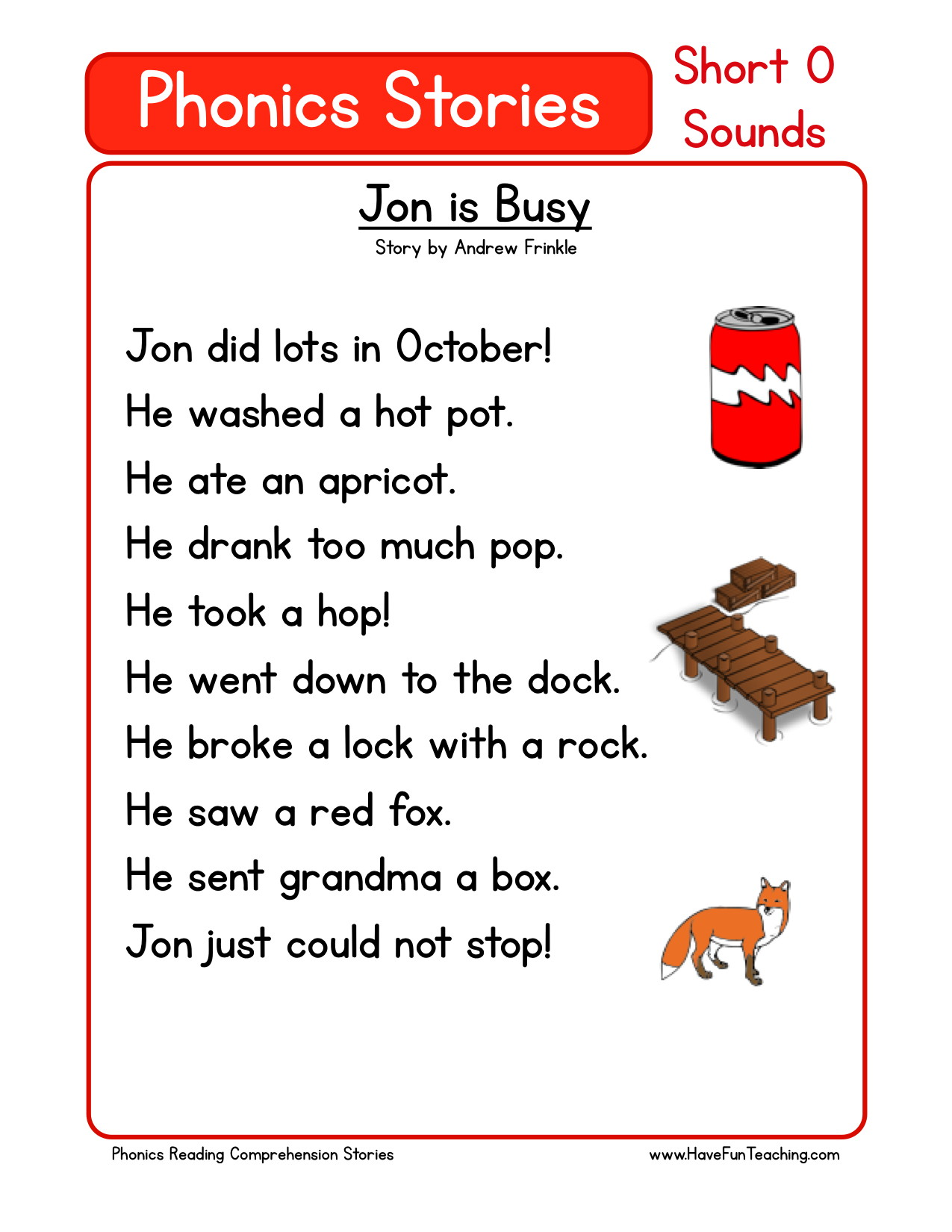 Reading Worksheet For Pre Kindergarten