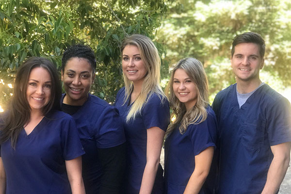 Comprehensive Wellness Staff: Katelyn Duer, Amber Domingue, Shelbie Raposa, Mercedes Duer, Jimmy Cabral