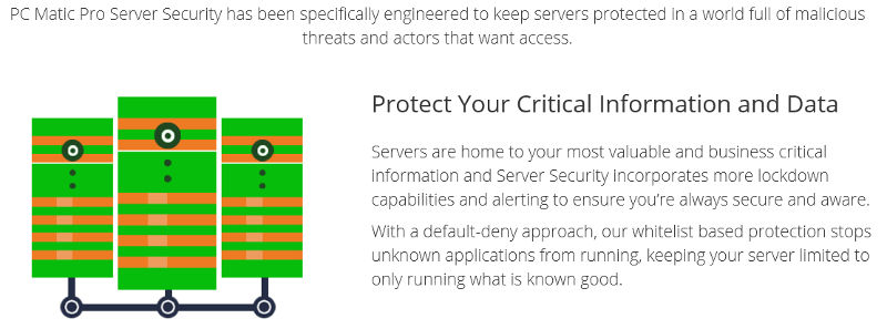 PC Matic Pro: New Product Announcement: Server Security