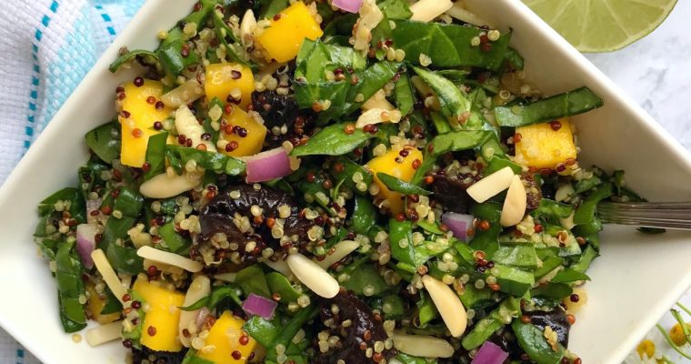 Spinach-Mango California Prunes Bowl