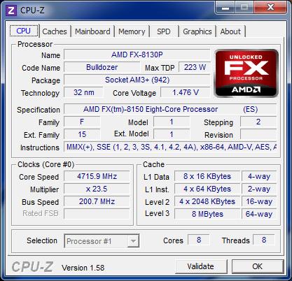 Overclocking FX-8150
