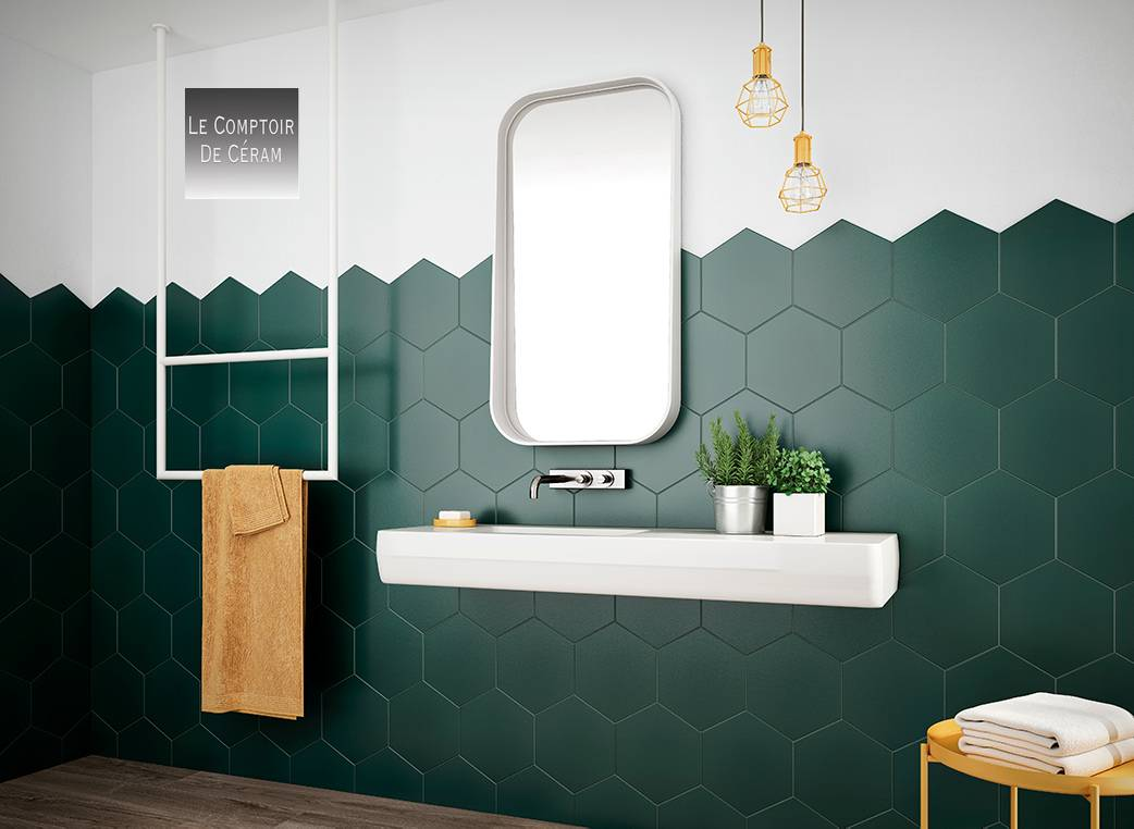 tomette carrelage hexagonal sol et mur