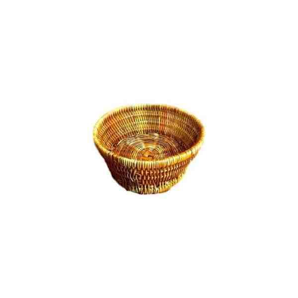 Corbeille tréssée ovale en fougère mini
