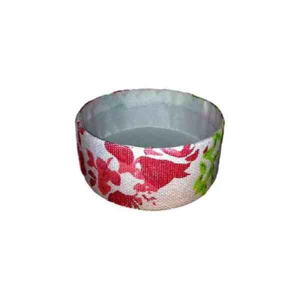 Corbeille de rangement en carton décor moyen fleurs