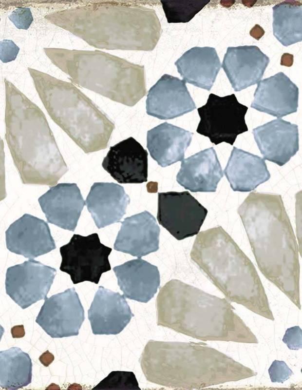 carrelage sol a motifs mauresques gr8504002