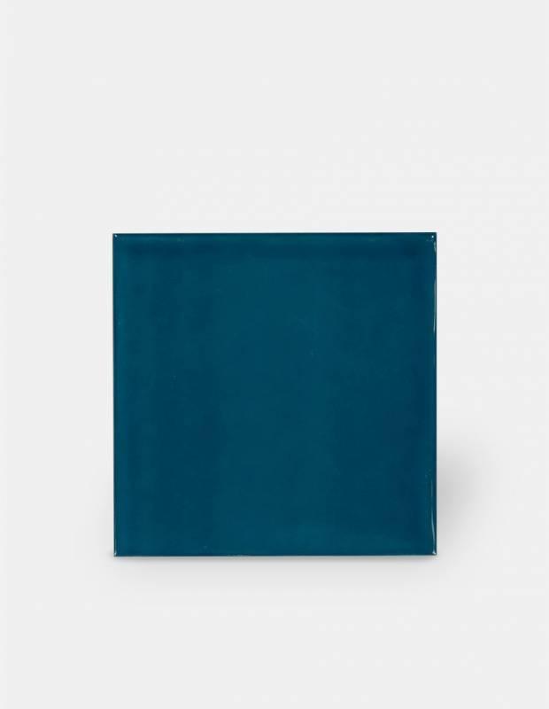 carrelage 15 x 15 cm martele bleu canard a effet artisanal lu7404056