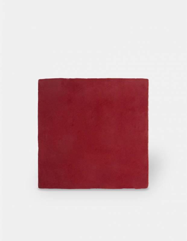Faience Murale Rouge Carmin Style Artisanal 10x10cm Pr0809030