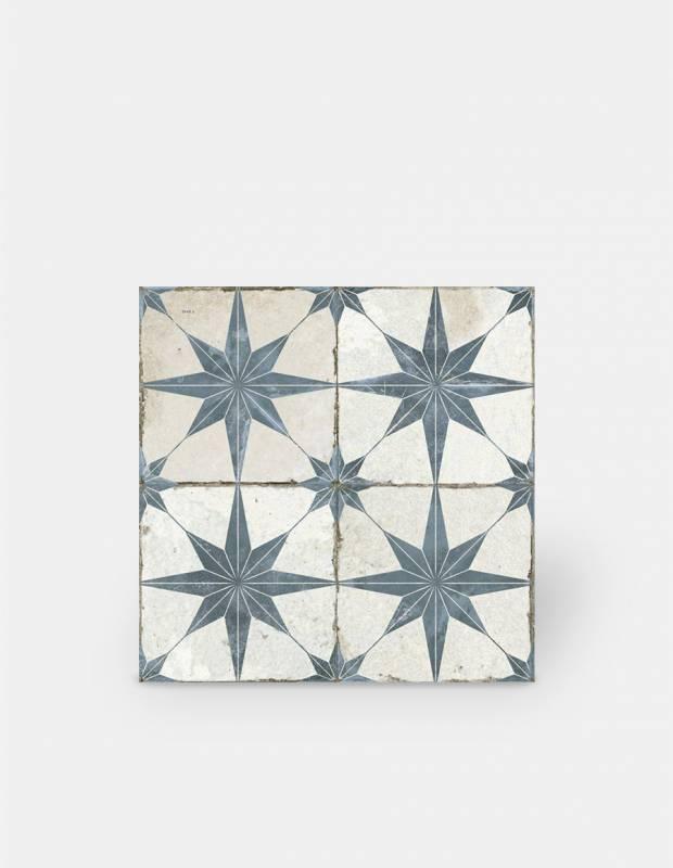 carrelage retro pour sol 45x45cm a motif bleu fs1132003