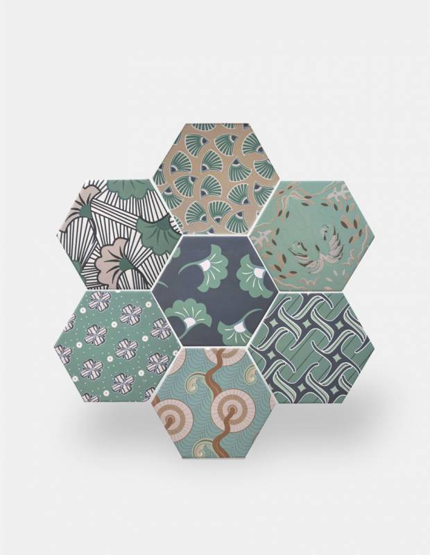 carrelage hexagonal la tomette gres cerame good vibes go0812014