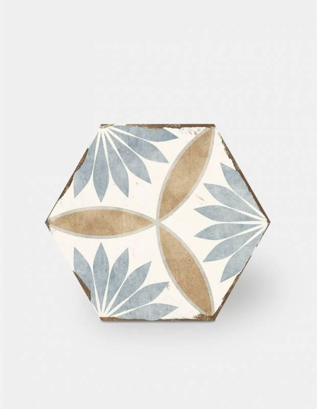 carreau hexagonal vintage aspect carreau de ciment bo8506001