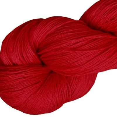 Fil de lin - Rouge écarlate - Tricot - Crochet