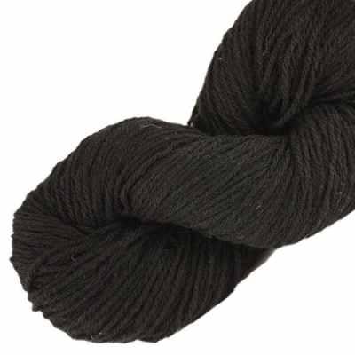 Laine naturelle Française - Noir - Echeveau de pure laine de pays à tricoter