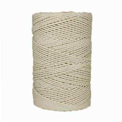 Macramé - corde - ficelle - coton- Blanc - naturel - 2,5mm