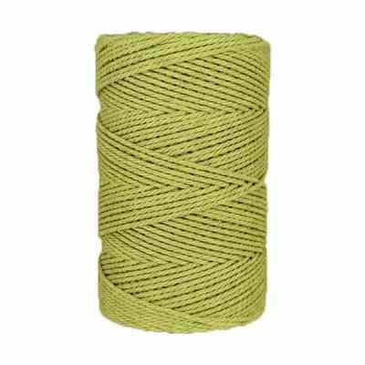 Macramé - corde - ficelle - coton- vert - Fil - 2,5mm