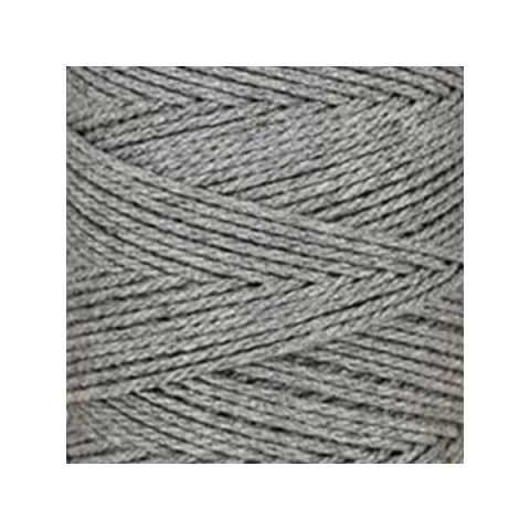 Macramé - corde - ficelle - coton - gris acier - cordon - fil 2,5 mm - vendu au mètre