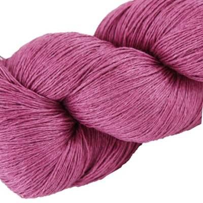 Écheveau fil pur lin, tricot crochet, 100% lin naturel, rose