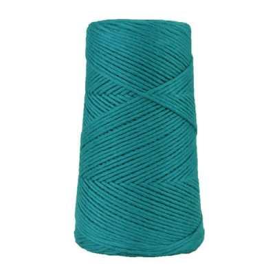 Cordon - corde - coton peigné suprême - fil de 2mm - bleu paon - macramé - crochet - tricot - tissage