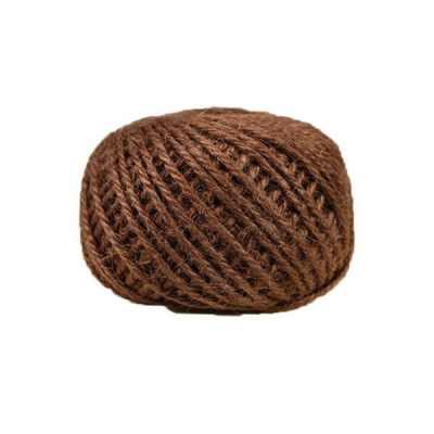 Corde - ficelle de jute- fil de 2mm - marron - macramé - crochet - bijouterie -décoration -bricolage - art floral