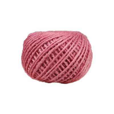 Corde - ficelle de jute- fil de 2mm - rose - macramé - crochet - bijouterie -décoration -bricolage - art floral