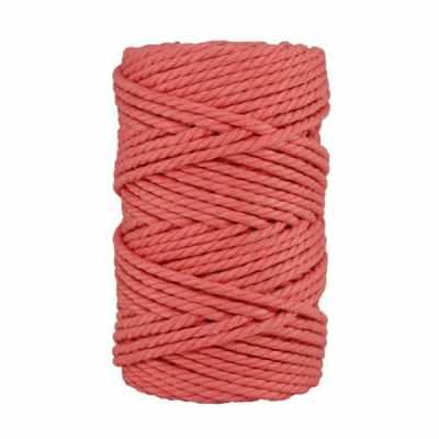 Macramé - corde - ficelle - coton- cordon - fil 5 mm - Rose saumon