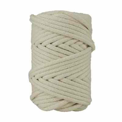 Cordon coton tressé 6 mm. Bobine de corde de 500 gr pour macramé, couture, customisation, décoration