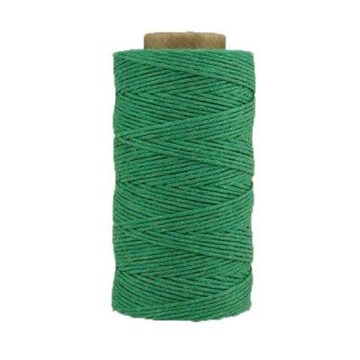Coton ciré - Vert émeraude