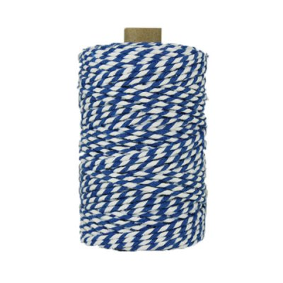 Ficelle Baker Twine - 3mm - Bobine - Bleu/blanc