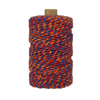 Ficelle Baker Twine - 3mm - Bobine - Bleu/rouge/orange