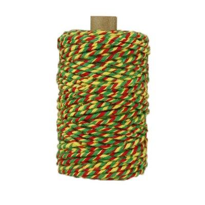 Ficelle Baker Twine - 3mm - Bobine - Rouge/jaune/vert